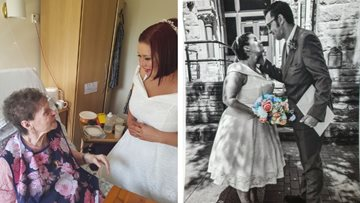 Wedding bells for Falkirk care home worker